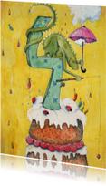 Verjaardagskaarten - Hoera 4 jaar!