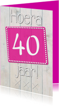 Verjaardagskaarten - Hoera ........ jaar op hout-ByF