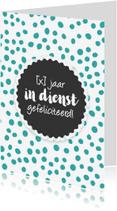 Jubileumkaarten - Hoera werkjubileum vrouw