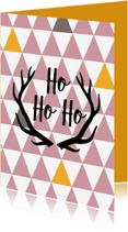 Kerstkaarten - hohoho driekoekpatroon