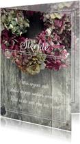 Condoleancekaarten - Hortensia's condoleancekaart