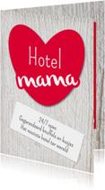 Moederdag kaarten - Hotel mama - DH