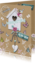 Uitnodigingen - housewarming vogelhuis