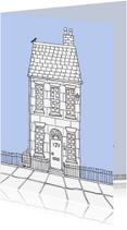 Verhuiskaarten - Huis illustratie