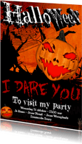 Halloween kaarten - I DARE YOU to visit my Halloween party