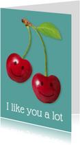 Liefde kaarten - I like you a lot cherries