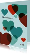 Liefde kaarten - I like you a lot