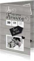 Trouwkaarten - Ja, trouwen met foto-isf