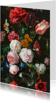 Bloemenkaarten - Jan Davidsz de Heem. Bloemen in een glazen vaas