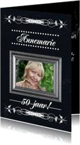 Verjaardagskaarten - Jarig 50 jaar klassiek lijst