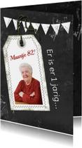 Verjaardagskaarten - Jarig naamkaartje zelf afmaken b