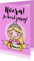 Verjaardagskaarten - Jarige prinses - EM