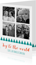 Kerstkaarten - Joy to the world