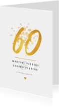 Jubileumkaarten - Jubileum 60 jaar stijlvol en klassiek met goud