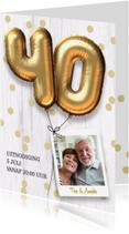 Jubileumkaarten - Jubileum huwelijk uitnodiging 40 jaar