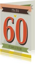 Jubileumkaarten - Jubileum-Retro 60-HK