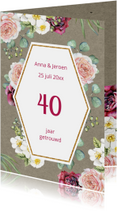 Jubileumkaarten - Jubileum rozen op craft