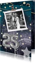 Jubileumkaarten - Jubileumkaart 25 jaar getrouwd confetti