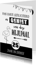 Jubileumkaarten - Jubileumkaart 25 jaar in dienst