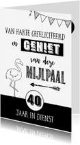 Jubileumkaarten - Jubileumkaart 40 jaar in dienst