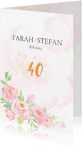 Jubileumkaarten - Jubileumkaart 40-jarig huwelijk