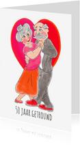 Felicitatiekaarten - Jubileumkaart 50 jaar getrouwd PA