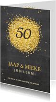 Jubileumkaarten - Jubileumkaart goud hartjes av