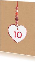 Jubileumkaarten - Jubileumkaart trouwen 10 jaar