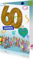 Jubileumkaarten - Jubileumkaart uitnodiging feest 60 jaar samen