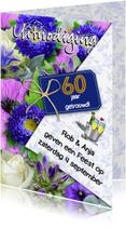 Jubileumkaarten - Jubileumkaart voor een echtpaar dat 60 jaar samen is