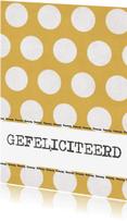 Ansichtkaarten - Kaart gele stippen
