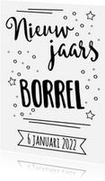 Uitnodigingen - Kaart nieuwjaarsborrel - WW