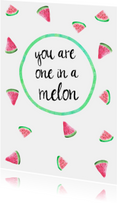"Kaart ""one in a melon"""
