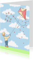 Kinderkaarten - Kaart Vliegeren