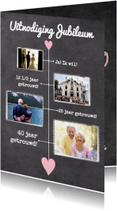 Jubileumkaarten - Kalender krijt jubileum - BK