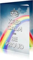 Zomaar kaarten - Keep Calm and Be Proud - SG