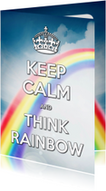 Coachingskaarten - Keep Calm and Think Rainbow - SG