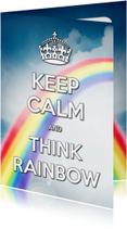 Coachingskaarten - Keep Calm and Think Rainbow - SG