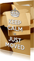 Verhuiskaarten - Keep Calm - Moved Housewarming - OT