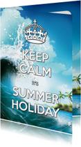 Vakantiekaarten - Keep Calm Summer Holiday golf - SG