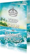 Vakantiekaarten - Keep Calm Summer Holiday Palm - SG