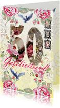 Verjaardagskaarten - KendieKaart-50 Gefeliciteerd-LFD