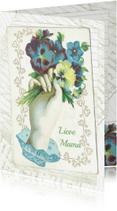 Moederdag kaarten - Kendiekaart Vintage Moederdag