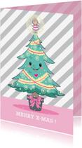 Kerstkaarten - Kerst - Boom Engel - TW