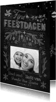 Kerstkaarten - Kerst handgetekend krijtbord