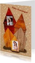 Kerstkaarten - Kerst Huisjes Papierprint - HR