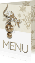Menukaarten - Kerst menukaart trendy chique SG