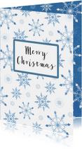 Kerstkaarten - Kerst sneeuwvlokjes - SV