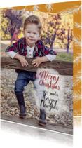 Kerstkaarten - Kerst takjes fotokaart - HR