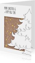Kerstkaarten - Kerstboom met lichtjes_LS